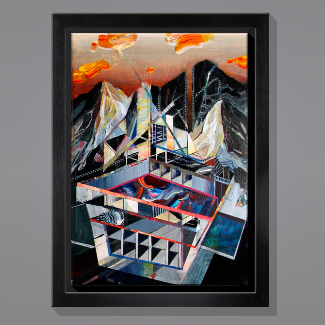 'Excavatorelevator' Limited Edition Giclee Print on Canvas